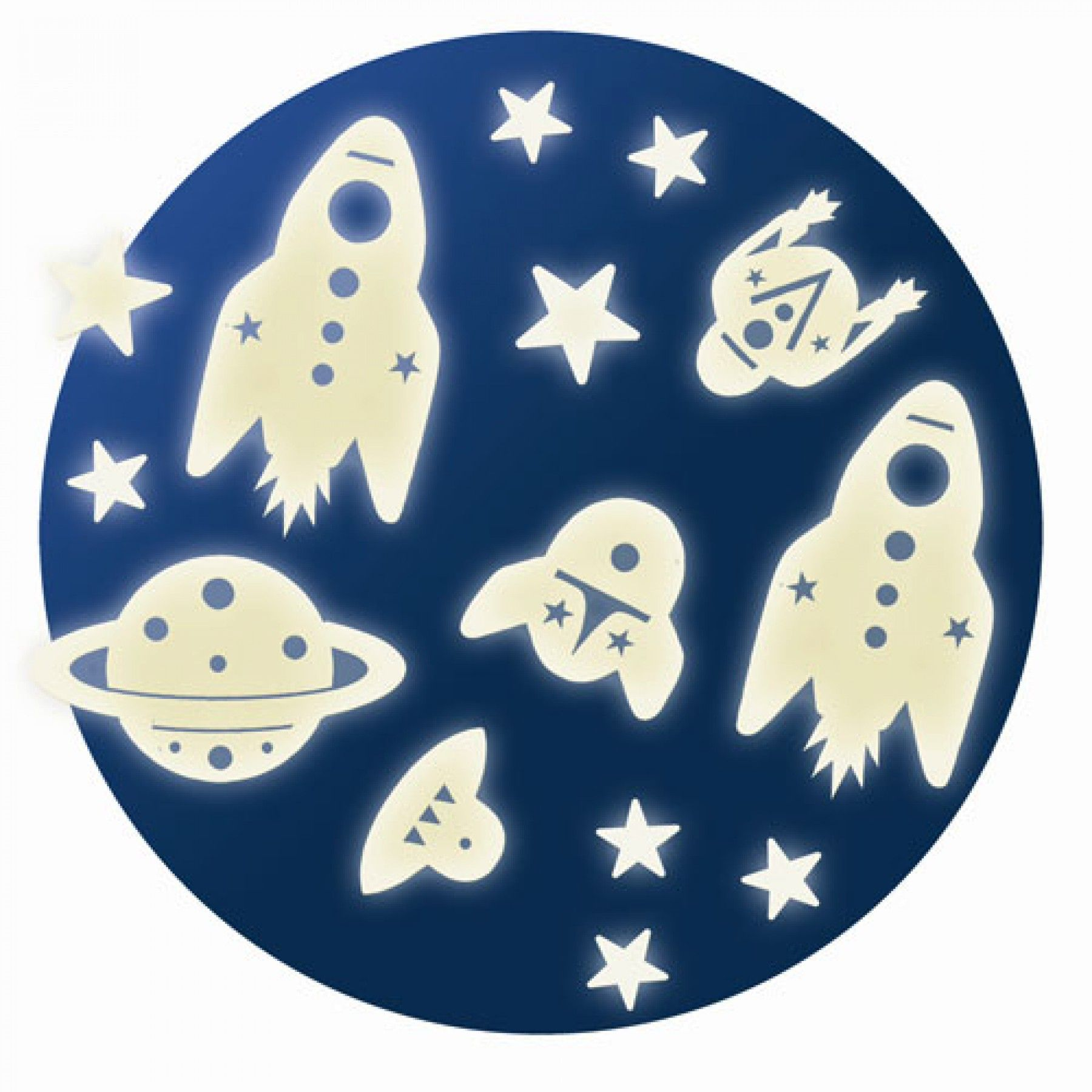 Figuras fosforescentes Mision Espacial