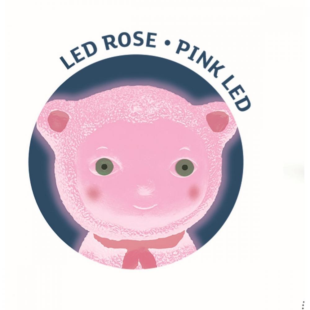 Luz nocturna Teddychou Oso Rosa